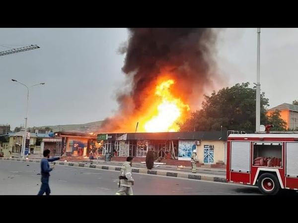 Взрыв на заправке в Душанбе