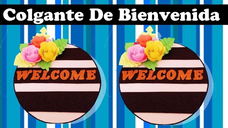 COMO HACER un CARTEL de BIENVENIDA! 😍😍 COLGANTE para PUERTA Welcome Door hanger