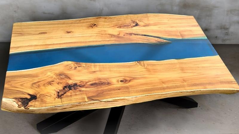 СТОЛ РЕКА ИЗ СЛЭБОВ И ЭПОКСИДНОЙ СМОЛЫ ARTLINE БЕЗ МАСТЕРСКОЙ И СТАНКОВ! DIY Epoxy Resin river Table