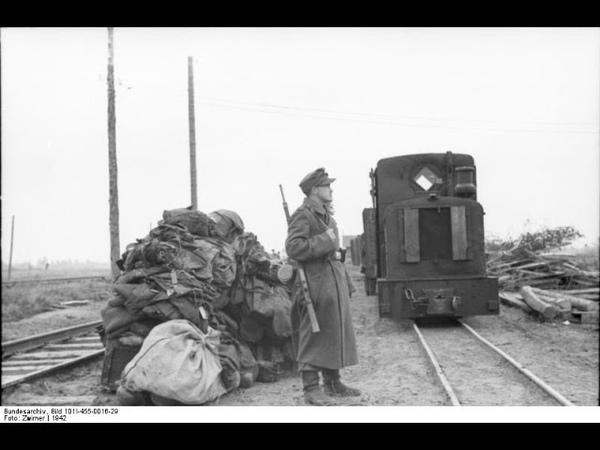 Немецкая военно полевая узкоколейка ст Волоста Знаменка Юхнов