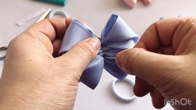 Очень просто бант из репсовой ленты 5 см (very simple rep ribbon bow 5 cm) новинки 2020 года
