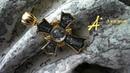 Нательный крест «Спас Нерукотворный. Св. царь Николай II. Икона Божией Матери Игоревская»