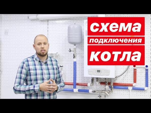 Схема подключения обвязки газового настенного котла