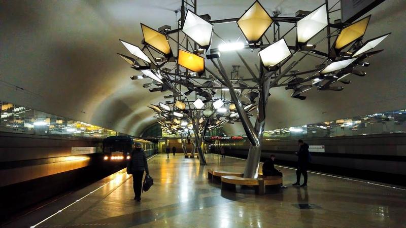 ⁴ᴷ⁶⁰ Walking Moscow Metro Sokolnicheskaya Line (Red Line 1) - Bulvar Rokossovskogo till Kommunarka