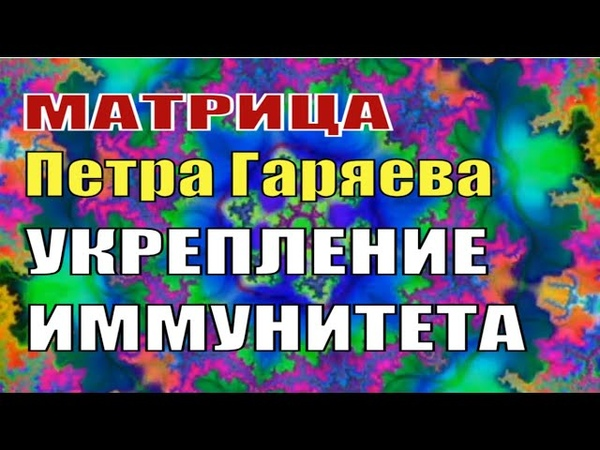 4 Исцеляющие Матрицы Гаряева Программа по Укреплению Иммунитета