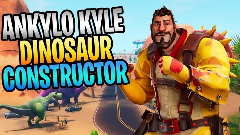 FORTNITE New ANKYLO KYLE Dinosaur Constructor Save The World Gameplay