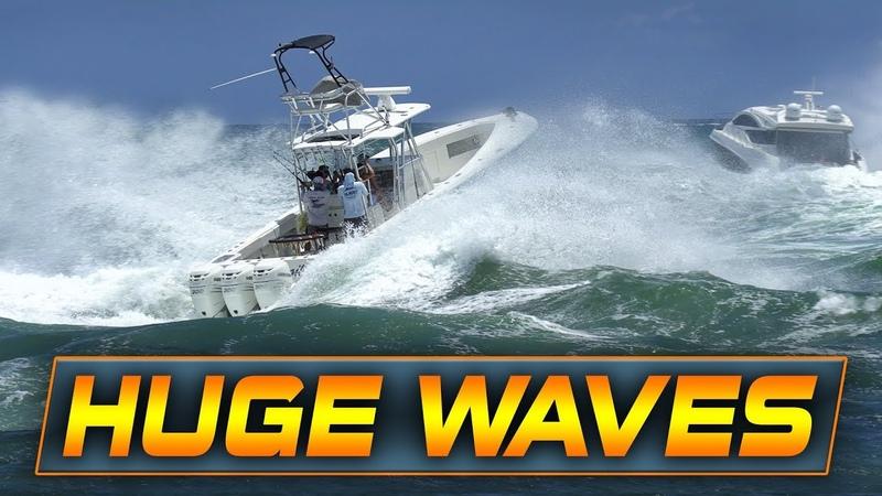 Boat gets DISMANTLED at HAULOVER INLET!! | Nasty Waves!