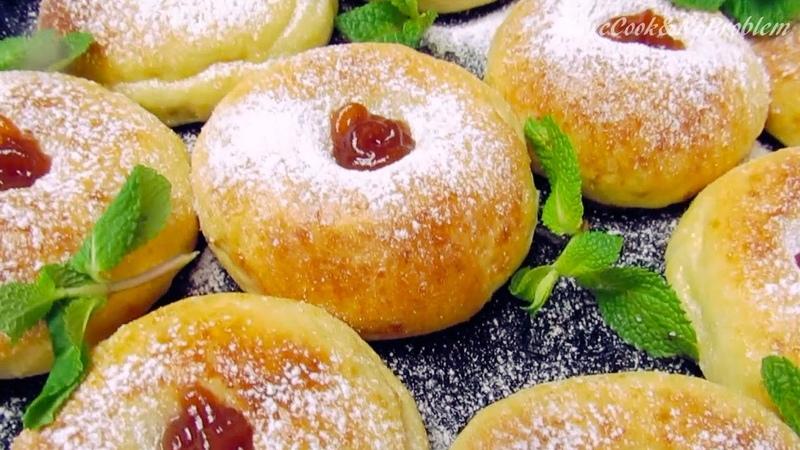 Пончики из творожного теста в духовке Как приготовить настоящие пончики без жарения рецепт