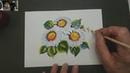 Минутки вдохновения с художником Зинаидой Голубевой. Ромашки гуашью по мотивам жостово