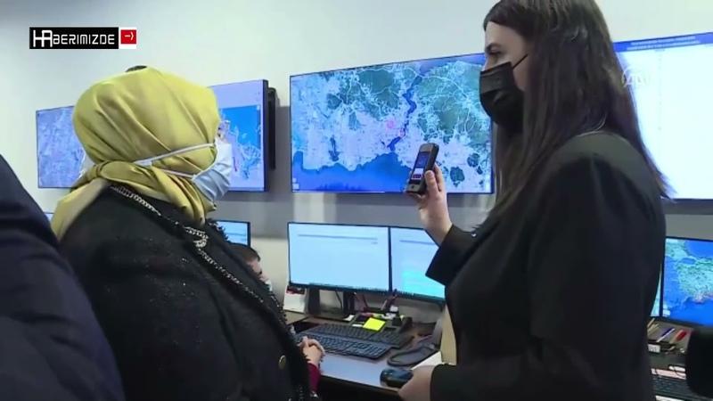 Süleyman Soylu ile Zehra Zümrüt Selçuk elektronik kelepçe merkezini ziyaret etti