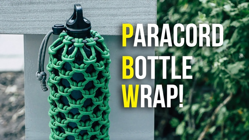 💧STAY HYDRATED Wrap Your Bottle In Paracord Cow Hitch Bottle Wrap TUTORIAL