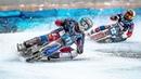 Гонки на мотоциклах по ледяному озеру Motorcycle racing on an icy lake