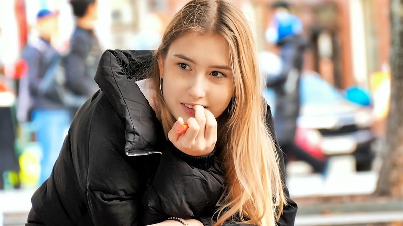 Russian girls on the streets in the autumn season Part 26