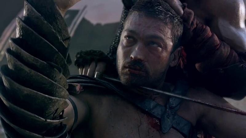 Спартак сражается с Криксом на арене. Часть №2 (Спартак. Кровь и песок)