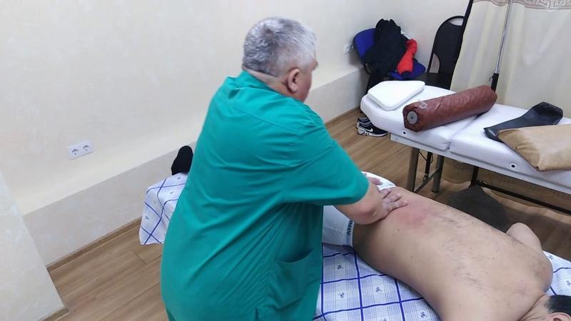 Репин Костоправ. Защемление нерва в следствие защемления IV поясничного позвонка