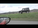 Mercedes G Wagon passing cars on highway while off roading at 70mph