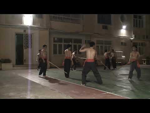 Парная наработка с шестом - Hồng Gia Quyền(Хонг За Куен) ,тренировки красных поясов.