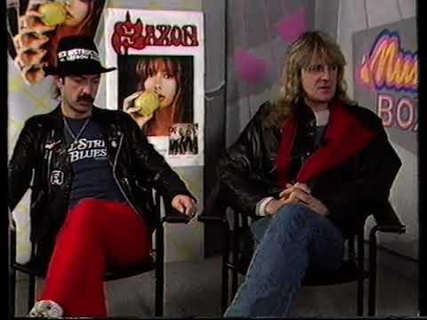 Saxon 1986 interview Biff Steve Power Hour Music Box