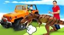 Игрушка Бен10 на раскопках - ищем фигурки животных Collecta! - Новое видео для мальчиков