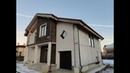 Дом из газобетона с четырьмя видами утепления и отделки фасадов, СФТК штукатурка, НФС, СФТК с камнем