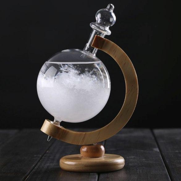 Кристаллический барометр который предсказывает погоду в форме глобуса