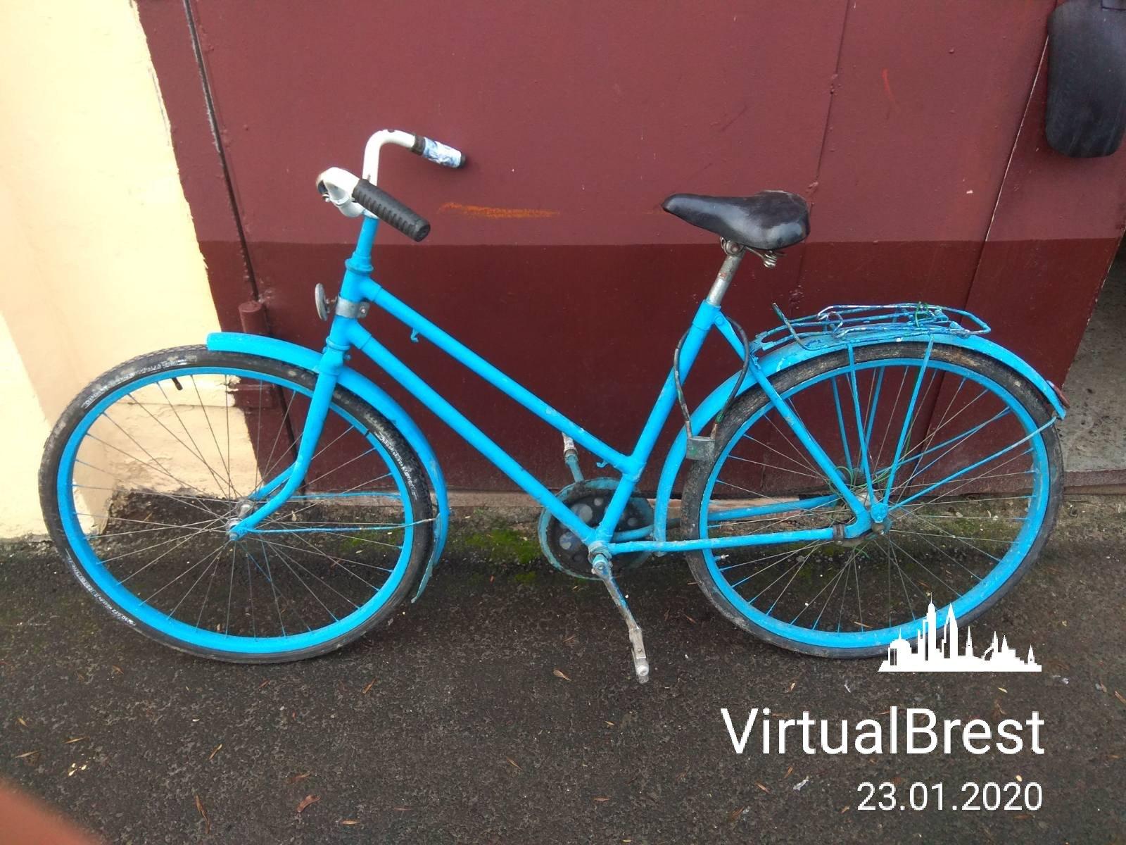 В микрорайоне Речица нашли велосипед «Аист» синего цвета. Милиция ищет владельца