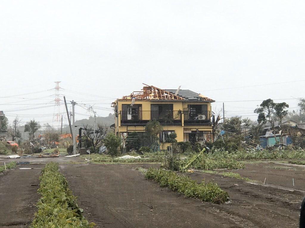 Последствия торнадо в Итихаре (Япония, 12.10.2019)