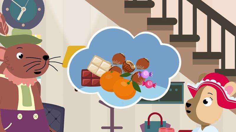 Йози и Зузи празднуют День Св Николая Детский мультфильм на немецком языке