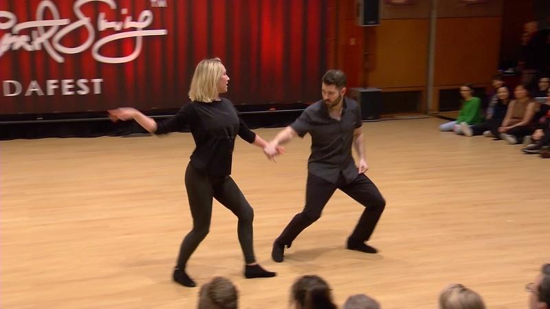 Improv West Coast Swing Dance Ben Morris Victoria Henk Budafest 2020 Pro Show