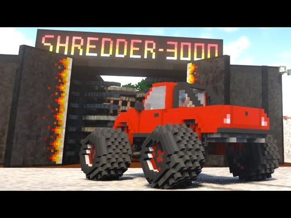 Огромная дробилка шредер уничтожает машины 1 Teardown разрушения Тирдаун моды