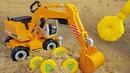 Детская игрушка металлодетектор. Машинка игрушка Экскаватор и предметы в песке! Мультики для детей