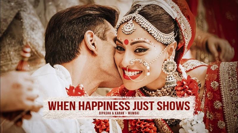 WHEN HAPPINESS JUST SHOWS Bipasha Basu Karan Grover Trailer Best Wedding Highlights Mumbai