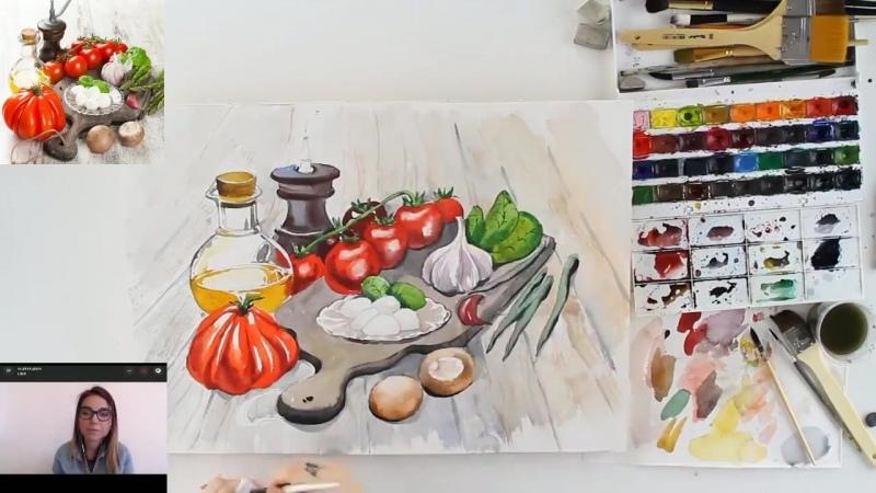 Food-скетчинг «Итальянский завтрак»