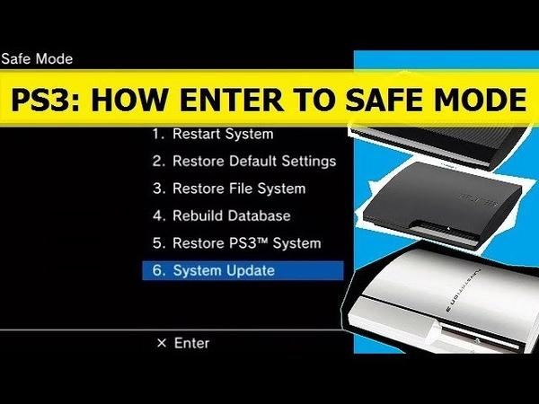 PS3 HOW TO ENTER SAFE MODE. КАК ЗАЙТИ В БЕЗОПАСНЫЙ РЕЖИМ НА SONY PLAYSTATION 3 FATSLIMSUPER SLIM