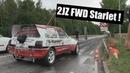 2JZ FWD Starlet Testing at Racedays.dk in Odense