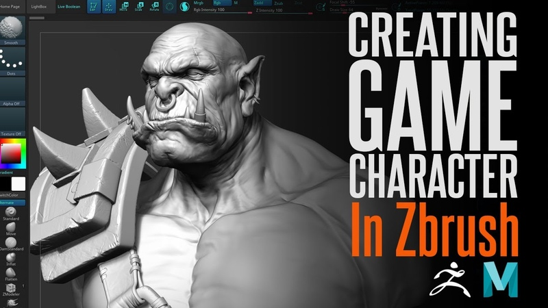 Creating an Orc in Zbrush Timelapse with comments