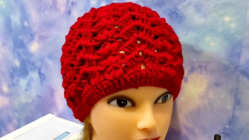 Шапочка крючком. Комплект шапка и шарф для начинающих.