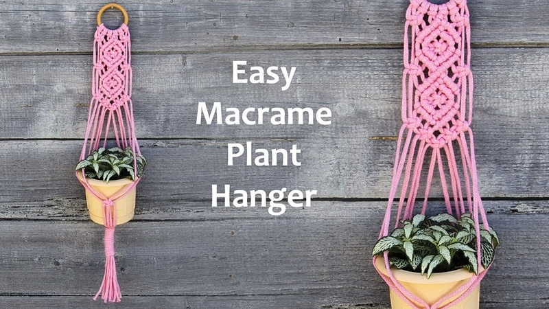 How to make Macrame Plant Hanger | Easy Macrame Plant Hanger Tutorial | Макраме Для Начинающих