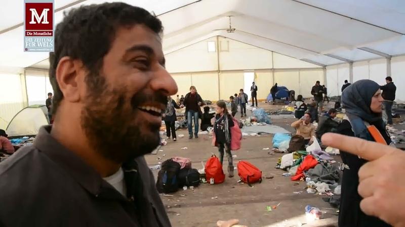 Flüchtlingslager Spielfeld versinkt 2015 im Müll