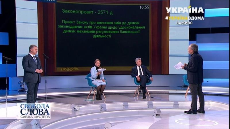 Юлія Тимошенко Закон про банки - це закон про втрату суверенності і незалежності України