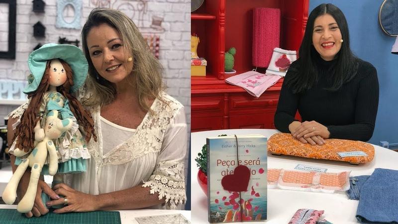 Ateliê na TV Rede Vida 04 09 2018 Cláudia Figueiredo e Luciene Ferretti