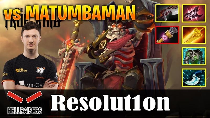 Resolution Wraith King Safelane vs MATUMBAMAN Slark Dota 2 Pro MMR Gameplay